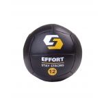 медицинбол  Effort E252, 12 кг, черный