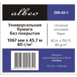 бумага для принтера Albeo InkJet Paper Z80-42-1 (Рулонная бумага)