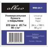 бумага для принтера Albeo InkJet Coated Paper-Universal W90-24-1 (Рулонная бумага)