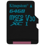 Карта памяти Kingston 64GB microSDXC (SDCG2/64GBSP), купить за 2 600руб.