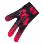 перчатка для бильярда Longoni Billiard Player черно/красная
