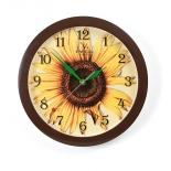 часы интерьерные Вега Подсолнух, пластик (настенные)