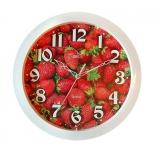 часы интерьерные Вега Клубника, Кухня, пластик