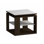 столик журнальный Мебель Импэкс LS 747 02.11 венге,стекло-белый (с полкой)
