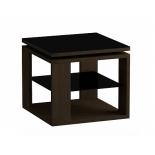 столик журнальный Мебель Импэкс LS 747 02.01 венге,стекло-черный (с полкой)