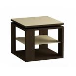 столик журнальный Мебель Импэкс LS 747 02.10 венге,стекло-крем (с полкой)