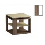 столик журнальный Мебель Импэкс LS 747 04.11 ясень темный,белый (с полкой)