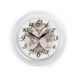 часы интерьерные Вега Карта Мира под старину, пластик (настенные)