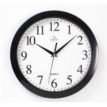 часы интерьерные Вега Классика белый циферблат церные арабские, пластик (настенные)