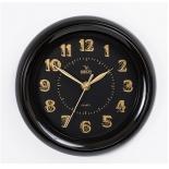 часы интерьерные Вега классика арабские черный, пластик (настенные)