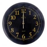 часы интерьерные Вега Классика черные (золотая кайма)