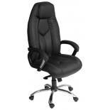 кресло офисное TetChair  BOSS хром 36-6/36-6/06, черный