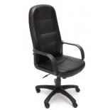 кресло офисное TetChair DEVON кож/зам, черный/черный перфорированный, 36-6/36-6/06
