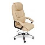 кресло офисное TetChair BERGAMO хром кож/зам, бежевый, 36-34