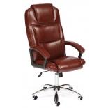 кресло офисное TetChair BERGAMO хром кож/зам, коричневый, 36-36