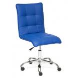 кресло офисное TetChair ZERO кож/зам, синий, 36-39