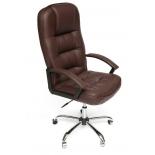 кресло офисное TetChair СН9944 Хром, коричневый, 36-36