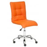 кресло офисное TetChair  ZERO кож/зам, оранжевое, 14-43