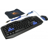 комплект Qumo Gamer Force USB (клавиатура, мышь, коврик)