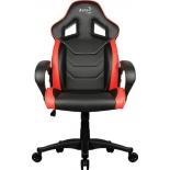 игровое компьютерное кресло Aerocool AC60C AIR-BR, черно-красное