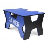 стол компьютерный Generic Comfort Gamer 2/N/B, черно-синий