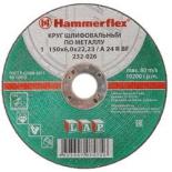 круг шлифовальный Hammer Flex (232-026) по металлу 150 x 6.0 x 22,23 A 24 R BF
