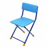 стул складной Ника СТУ3, синий горох