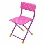 стул складной Ника СТУ3, розовый горох