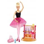игрушки для девочек Игровой набор Mattel Barbie Инструктор балета, DXC93