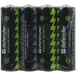 батарейка Defender LR6-4B 4PCS 56012 alkaline 4 шт AA