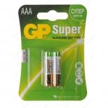 батарейка GP Super Alkaline 24A LR03 AAA (2шт)