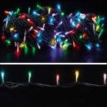 новогоднее украшение Гирлянда Торг-Хаус LED Нить L-3B/60L-M (60 светодиодов с контроллером, 5,7 м, тёмно-зелёный провод), разноцветная