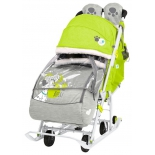 санки-коляска Nika Disney baby 2 101 Далматинец, лимонные