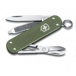 нож перочинный Victorinox Classic Alox (58 мм, 5 функций, алюминиевая рукоять), зелёный