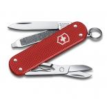 нож перочинный Victorinox Classic Alox (58 мм, 5 функций, алюминиевая рукоять),  красный