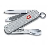нож перочинный Victorinox Classic Alox (58 мм, 5 функций, алюминиевая рукоять), серебристый