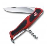 нож перочинный Victorinox RangerGrip 52, 130 мм, 5 функций (0.9523.C) красный/черный