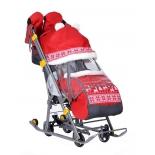 санки-коляска Ника Детям 7-2 (НД 7-2), красные