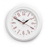 часы интерьерные Вега классика арабские белый с узором, П 6-7-21 (настенные)