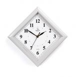 часы интерьерные Вега классика ромб белые арабские, П 3-5-51 (настенные)