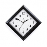 часы интерьерные Вега Классика 45 град белые черный кант, П 3-6-51 (настенные)