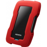 внешний жёсткий диск Adata AHD330-1TU31-CRD 1Tb, красный
