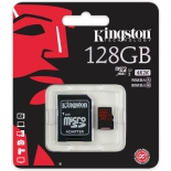 карта памяти Kingston SDCA3/128GB ( R/W 90/80, с адаптером)