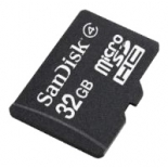 карта памяти Sandisk microSDHC 32Gb Class 4 + adapter