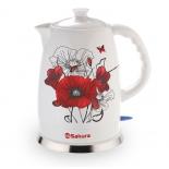чайник электрический Sakura SA-2028M, маки