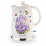 чайник электрический Sakura SA-2028S, подснежники