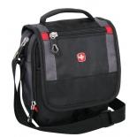 сумка WENGER 1092239,15х5х22 см, черный/серый