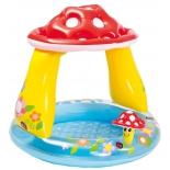 бассейн надувной Intex Мухомор 57114 (с навесом) 102х89 см