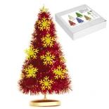 новогодняя елка Торг-Хаус, мишура спиральная (25см) красная