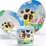 столовый сервиз Набор детской посуды Loraine  LR 27329 Корова
